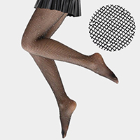 Crystal Rhinestone Embellished Fishnet Pantyhose Tights