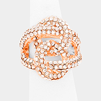 Twisted crystal stretch ring
