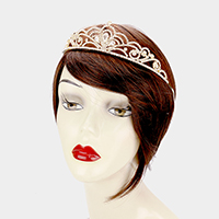 Triple Crystal Teardrop Accented Princess Tiara