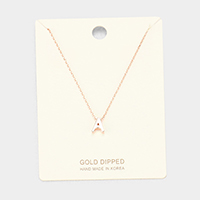 'A' Gold Dipped Metal Pendant Necklace