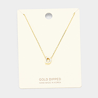 'D' Gold Dipped Metal Pendant Necklace