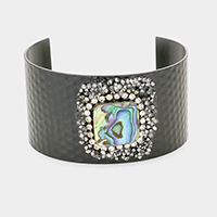 Abalone Square Centered Cuff Bracelet