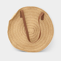 Soft Straw Round Tote Bag