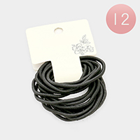 12 Set of 18 - Basic Ponytail Hair Bands