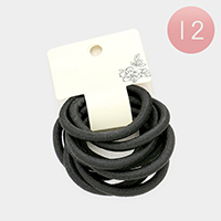 12 Set of 10 - Basic Ponytail Hair Bands