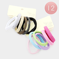 12 Set of 6 - Basic Thick Ponytail Hair Bands
