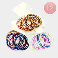 12 Set of 5 - Telephone Wire Hair Bands