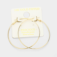 14K gold filled 5 cm metal Hypoallergenic hoop earrings