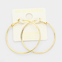14K Gold Filled 5cm Hypoallergenic Metal Hoop Earrings