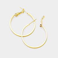 14K Gold Filled 4cm Metal Hoop Earrings