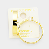 14K Gold Filled 4cm Hypoallergenic Metal Hoop Earrings