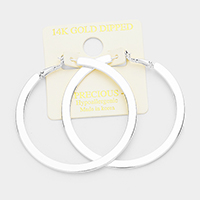 14K Gold Filled 6cm Metal Hypoallergenic Hoop Earrings