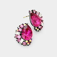 Crystal Statement Stud Evening Earrings