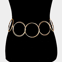 Metal Hoop Link Chain Belt