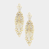 Oversized Crystal Rhinestone Pave Evening Earrings