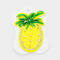 Crystal Embellished Pineapple Iron On Patch