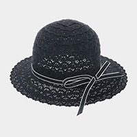 Bow Trim Lace Sun Hat