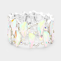 Marquise Abstract Crystal Evening Stretch Bracelet