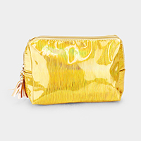 Striped Hologram Pouch Bag