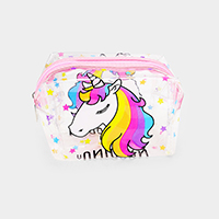 Unicorn Printed Transparent Pouch Bag