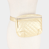 Leather Square Stitch Fanny Pack