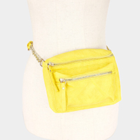 Leather Crossbody Bag / Fanny Pack Dual