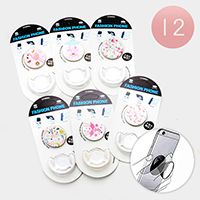 12PCS - Flamingo Printed PopSocket PopClip Combo Packs