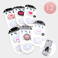 12PCS - Heart Lip Bow PopSocket PopClip Combo Packs