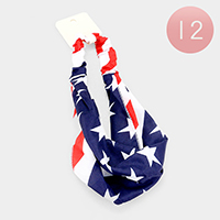 12PCS - American Flag Stretch Headbands