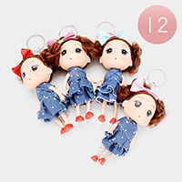 12PCS - Cute Girl Character Key Chains