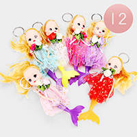 12PCS - Mermaid Cute Girl Character Key Chains