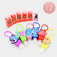12PCS - Hand Sanitizer with Sea Life Silicone Holders