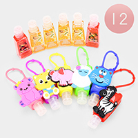 12PCS - Hand Sanitizer with Animal Silicone Holders