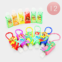 12PCS - Hand Sanitizer with Mermaid Silicone Holders