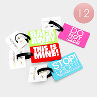 12PCS - Message Luggage Tags
