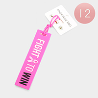 12PCS - Pink Ribbon Luggage Tags