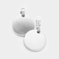 Metal Disc Clip on Earrings