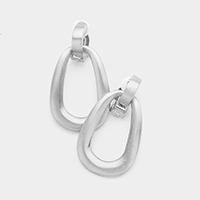Cut Out Metal Teardrop Clip on Earrings