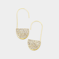 Crystal Rhinestone Pave Accented Earrings