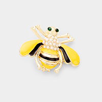 Pearl Cluster Honey Bee Pin Brooch