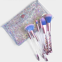 7PCS - Liquid Glitter Extremely Soft Makeup Brush Tool Set