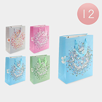 12PCS - Floral Printed Gift Bags