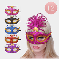 12PCS - Bling Cat Eye Party Masks