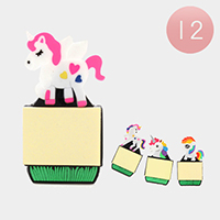 12PCS - Unicorn Memo Fridge Magnets