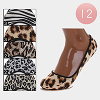 12Pairs - Animal Patterned Peep Socks