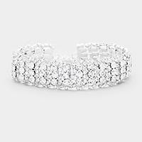 Bubble Crystal Pave Evening Bracelet