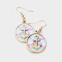 Patterned Anchor Accented Dangle Earrings