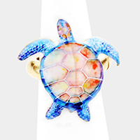 Watercolor Turtle Stretch Ring