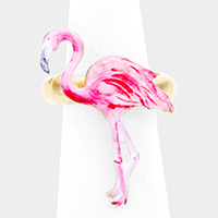 Watercolor Flamingo Stretch Ring