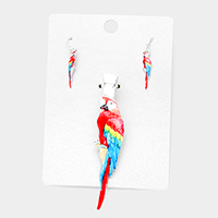 Watercolor Parrot Magnetic Pendant Set